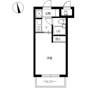 1R Mansion in Ikebukurohoncho - Toshima-ku Floorplan