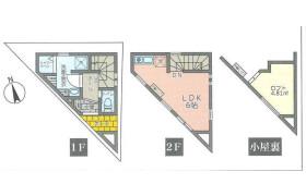 1R {building type} in Gohongi - Meguro-ku