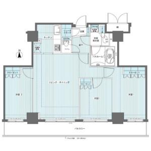 3LDK Mansion in Yoyogi - Shibuya-ku Floorplan