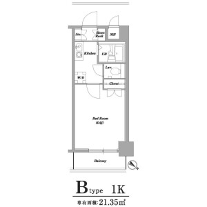 1K Mansion in Eitai - Koto-ku Floorplan