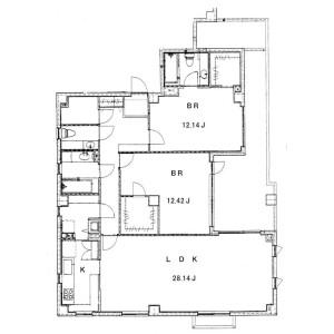 2LDK Mansion in Meguro - Meguro-ku Floorplan