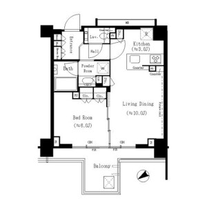 1LDK Mansion in Tamagawa - Setagaya-ku Floorplan
