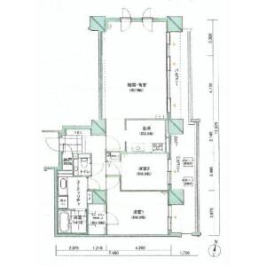 2LDK {building type} in Odorinishi(1-19-chome) - Sapporo-shi Chuo-ku Floorplan