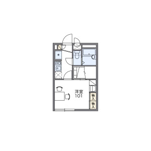 1K Apartment in Nishicho - Kashiwa-shi Floorplan