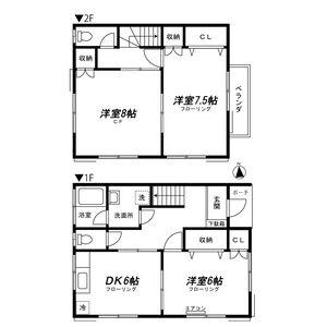 3DK Apartment in Higashiyamata - Yokohama-shi Tsuzuki-ku Floorplan