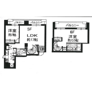2LDK Mansion in Yushima - Bunkyo-ku Floorplan