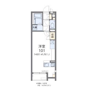 1R Apartment in Iko - Adachi-ku Floorplan