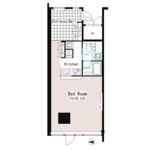 1R Mansion in Samoncho - Shinjuku-ku Floorplan
