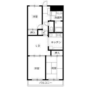 3LDK Mansion in Honcho - Asaka-shi Floorplan