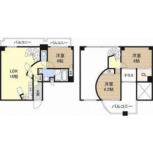 3LDK Mansion in Shikitsunishi - Osaka-shi Naniwa-ku Floorplan