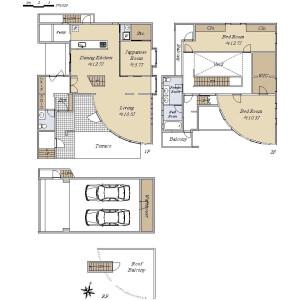 3LDK {building type} in Denenchofu - Ota-ku Floorplan