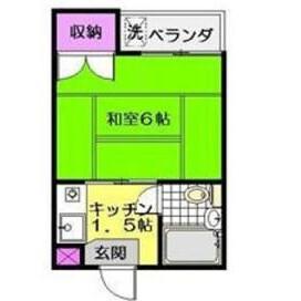 1K Mansion in Amanuma - Suginami-ku Floorplan