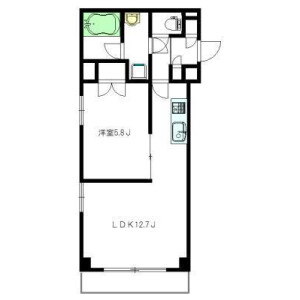 1LDK Apartment in Egota - Nakano-ku Floorplan