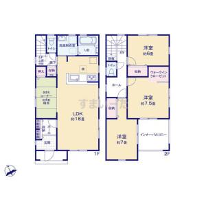 3LDK {building type} in Isecho - Kumagaya-shi Floorplan
