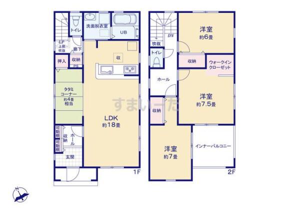 3LDK House to Buy in Kumagaya-shi Floorplan