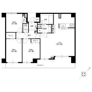 3LDK {building type} in Kobuchi - Sagamihara-shi Minami-ku Floorplan