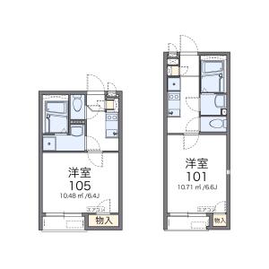 1K Apartment in Okudo - Katsushika-ku Floorplan