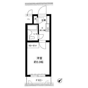 1K Mansion in Kitami - Setagaya-ku Floorplan