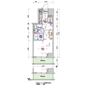 丰岛区北大塚-1K公寓大厦 楼层布局