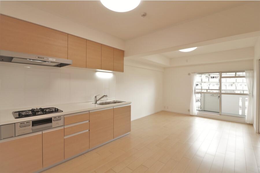在大阪市西淀川區購買3LDK 公寓大廈的房產 起居室