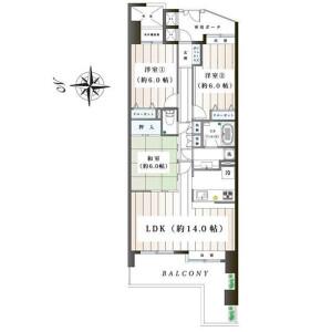 3LDK Apartment in Iijimacho - Yokohama-shi Sakae-ku Floorplan