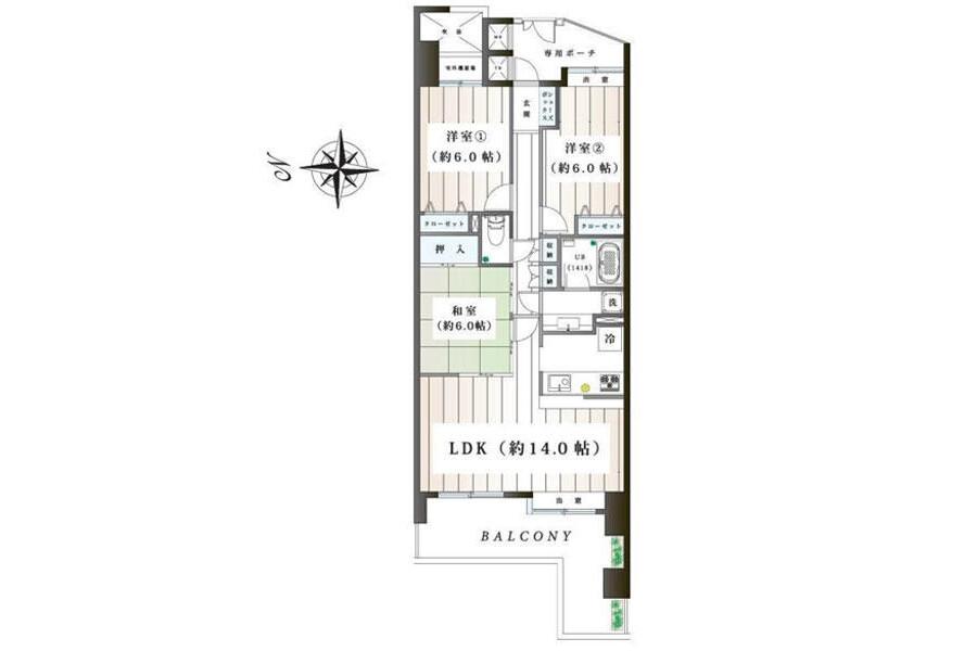 3LDK Apartment to Buy in Yokohama-shi Sakae-ku Floorplan