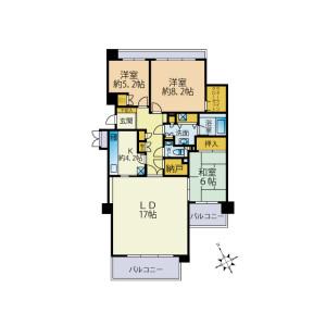 3LDK Mansion in Morokacho - Yokohama-shi Kohoku-ku Floorplan