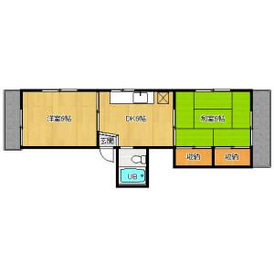 2DK Apartment in Oyamacho - Shibuya-ku Floorplan