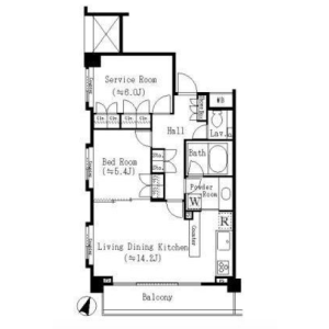 1SLDK Mansion in Kamiyamacho - Shibuya-ku Floorplan