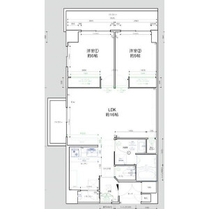 2LDK {building type} in Iwagamicho - Kyoto-shi Nakagyo-ku Floorplan