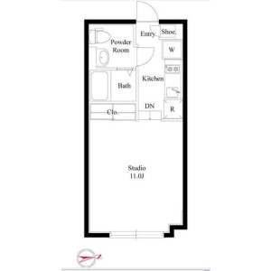 1R Mansion in Nishishinagawa - Shinagawa-ku Floorplan
