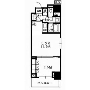 1LDK Mansion in Horinochi - Suginami-ku Floorplan