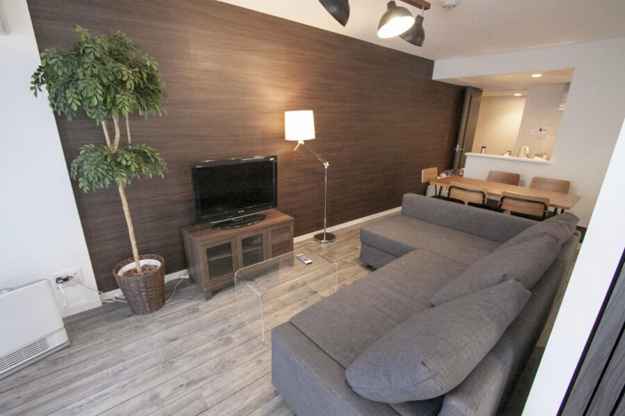 2LDK Apartment to Rent in Sapporo-shi Kita-ku Living Room