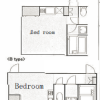 1R Apartment to Rent in Adachi-ku Floorplan