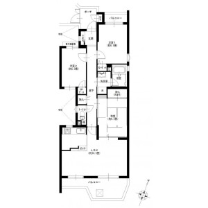 3LDK {building type} in Kamisakunobe - Kawasaki-shi Takatsu-ku Floorplan