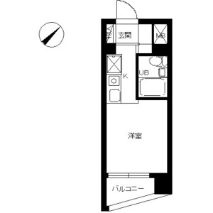 1R Mansion in Minamicho - Warabi-shi Floorplan