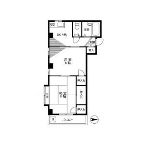 2DK Mansion in Oyamacho - Itabashi-ku Floorplan