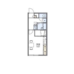 1K Apartment in Minami9-jonishi - Sapporo-shi Chuo-ku Floorplan
