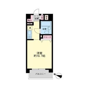 1R Mansion in Harigaya - Saitama-shi Urawa-ku Floorplan