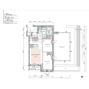 2LDK {building type} in Minamioi - Shinagawa-ku Floorplan