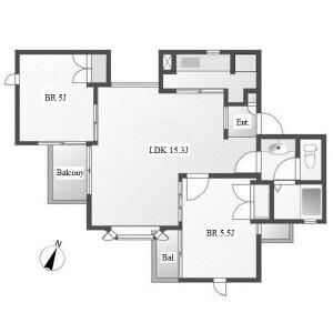 2LDK Apartment in Horiwaricho - Nagoya-shi Chikusa-ku Floorplan