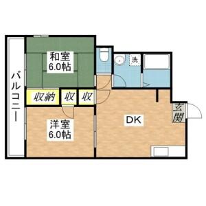 府中市南町-2DK公寓大厦 楼层布局
