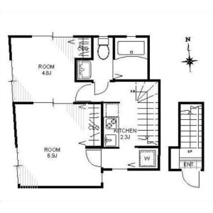 2K Apartment in Nakamachi - Setagaya-ku Floorplan