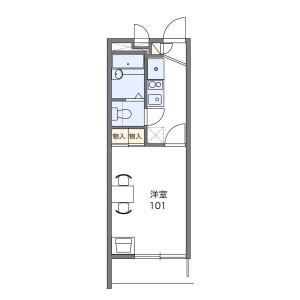 1K Apartment in Mutsukawa - Yokohama-shi Minami-ku Floorplan
