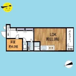 1LDK {building type} in Takada - Toshima-ku Floorplan