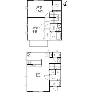 2LDK Terrace house in Miyaharacho - Saitama-shi Kita-ku Floorplan