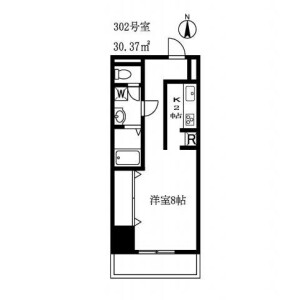 1K Apartment in Nakacho - Meguro-ku Floorplan