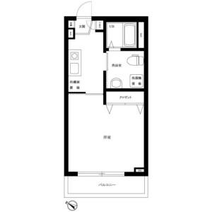 1K Mansion in Minamimagome - Ota-ku Floorplan