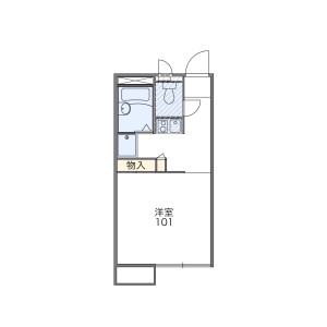1K Apartment in Wakamatsucho - Fuchu-shi Floorplan