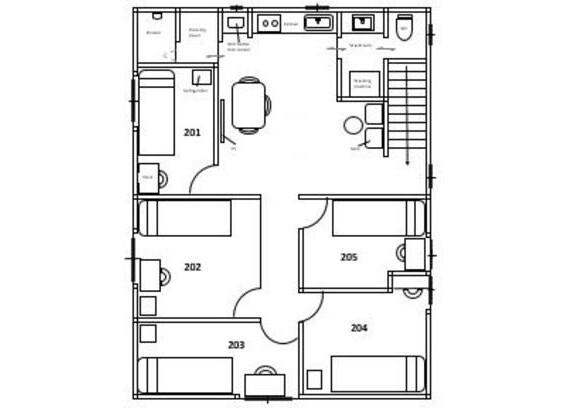 Private Guesthouse to Rent in Shinjuku-ku Floorplan
